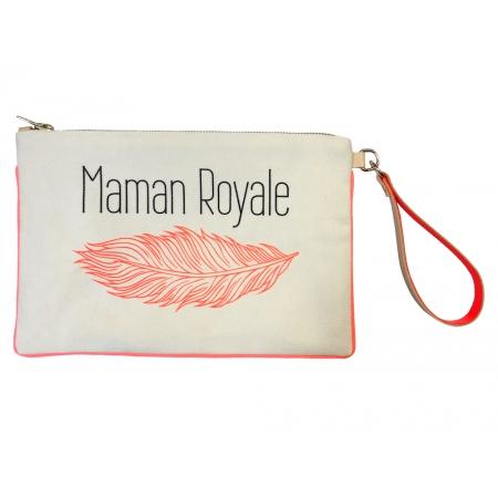 "Pochette Maman Royale ""Plume"""