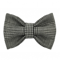 Child black and white bow tie, wool