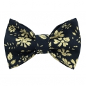 """Child black and yellow """"Liberty"""" pattern bow tie"""
