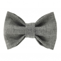 Child light-grey bow tie, wool