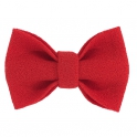 Child red bow tie, wool crepe