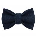 Child raw denim bow tie, cotton
