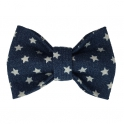 Child denim withe white stars bow tie, cotton