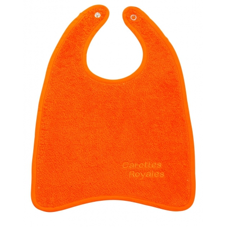 Bavoir orange carotte