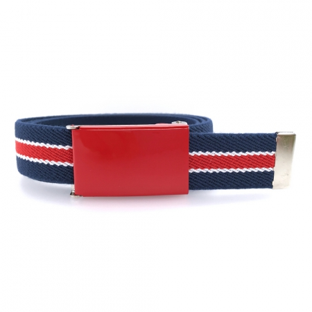 Ceinture marine boucle rouge rayures rouges et blanches