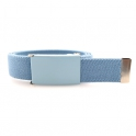 Pastel blue belt, pastel blue buckle