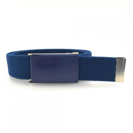 Navy-blue belt, dark blue buckle