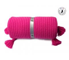 Couverture enfant framboise laine