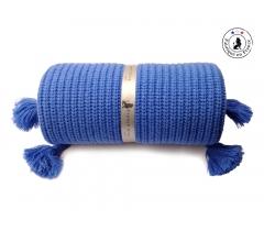 Couverture enfant bleu flashy laine