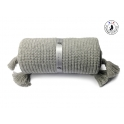 Couverture enfant grise laine