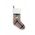 Bottes de Noël écossais beige