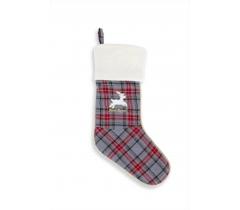 Bottes de Noël écossais gris