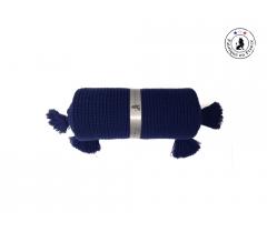 Couverture bébé bleu marine laine