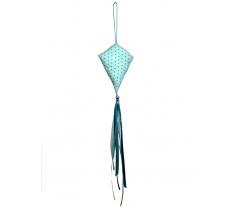 Petit cerf-volant décoratif étoiles turquoises